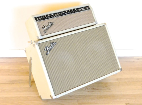 1963 Fender® Tremolux Blackface Blonde Vintage Piggyback Tube Amplifier