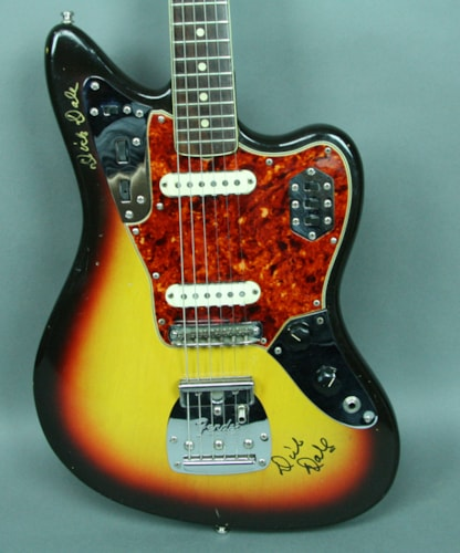 1965 Fender® Jaguar® Vintage American Electric Guitar Sunburst w/OHSC Dick