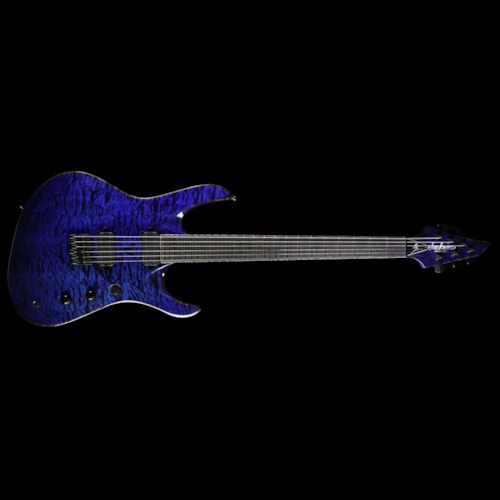 Jackson USA Select Chris Broderick Soloist HT6 Electric Guitar Transparent Blue
