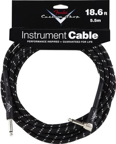 2014 Fender® 18.6' Right Angle Black Tweed Instrument Cable
