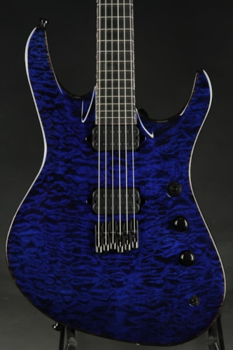 Jackson USA Signature Chris Broderick Soloist HT6 - Transparent Blue