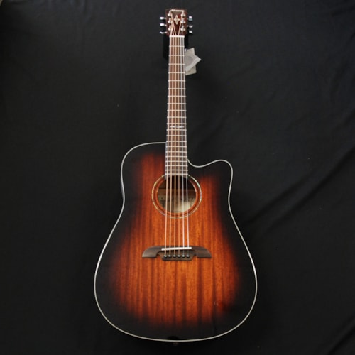 ALVAREZ Alvarez Dreadnought Acoustic/Electric Guitar W/Gig Bag #AD60CESHB