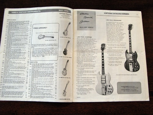 1982 Guitar Trader Original Vintage Guitar Bulletin, Vol. 1 No. 1