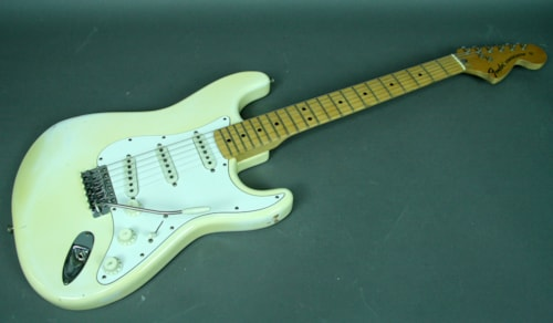 1974 Fender® Stratocaster® Vintage American Electric Guitar Olympic White