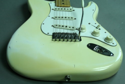 1974 Fender Stratocaster® Vintage American Electric Guitar Olympic White