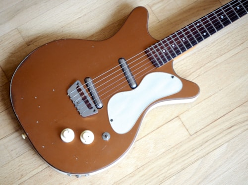 1959 Danelectro Standard Model 3022 Shorthorn Copper Vintage Guitar. U2, DC2