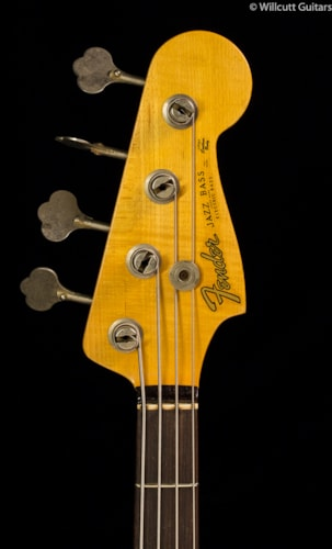 Fender® Custom Shop 1960 Journeyman Jazz Bass® Aged Olympic White (394) Custom Shop 1960 Journeyman Jazz Bass®