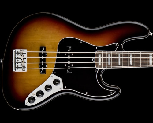 Fender® American Deluxe Jazz Bass® 3-Color Sunburst, Rosewood American Deluxe Jazz Bass®