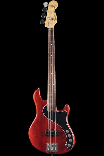 Fender® American Deluxe Dimension™ Bass IV Cayenne Burst (353) American Deluxe Dimension
