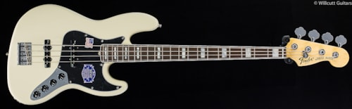 Fender® American Deluxe Jazz Bass® Olympic White, Rosewood (263) American Deluxe Jazz Bass®