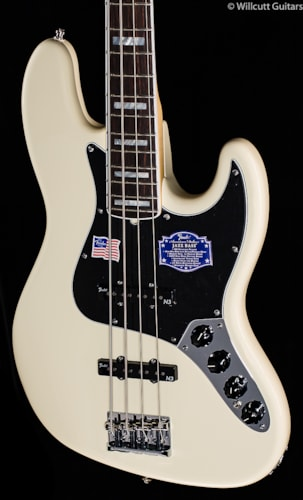 Fender® American Deluxe Jazz Bass® Olympic White, Rosewood (216) American Deluxe Jazz Bass®