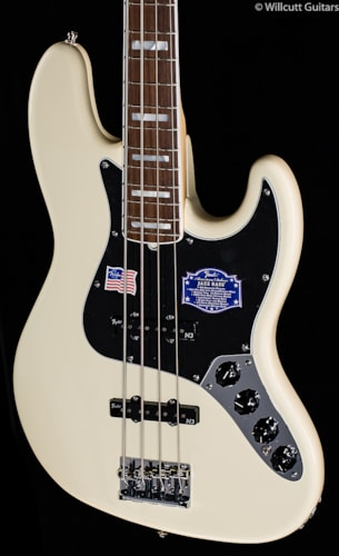 Fender® American Deluxe Jazz Bass® Olympic White, Rosewood (100) American Deluxe Jazz Bass®