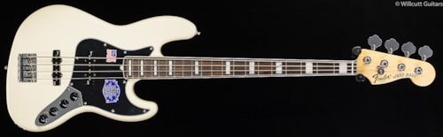 Fender® American Deluxe Jazz Bass® Olympic White, Rosewood (250) American Deluxe Jazz