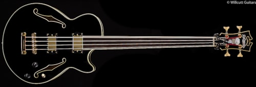 D'Angelico Standard Series EX Bass Black Fretless (902) Standard Series EX Bass