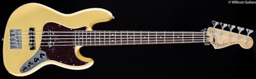 Fender® Deluxe Active Jazz Bass® V Vintage White (719) Deluxe Active Jazz Bass® V