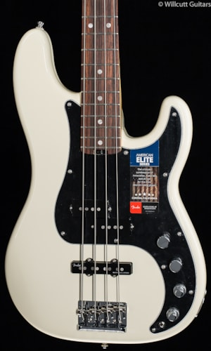 Fender® American Elite Precision Bass® Olympic White (792) American Elite Precision