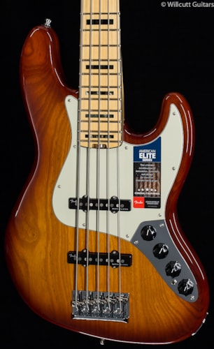 Fender® American Elite Jazz Bass® V Tobacco Sunburst (172) American Elite Jazz