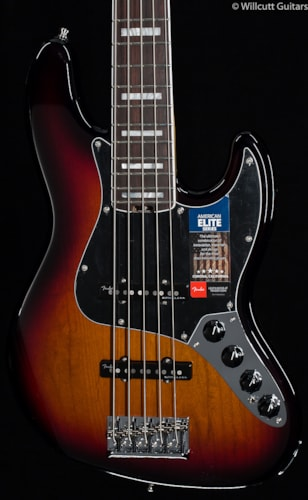 Fender® American Elite Jazz Bass® V 3-Tone Sunburst (125) American Elite Jazz