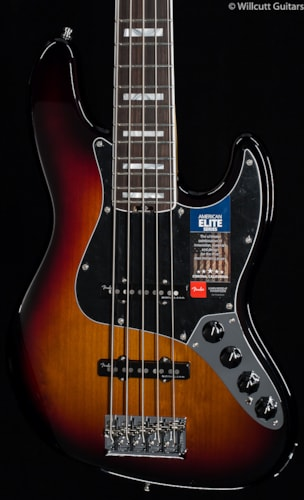 Fender® American Elite Jazz Bass® V 3-Tone Sunburst (541) American Elite Jazz