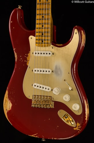 Fender® Custom Shop 1954 Heavy Relic® Stratocaster® Golden 50's Limited Cimmaron Red (406) Custom Shop 1954 Heavy Relic® Stratocaster®