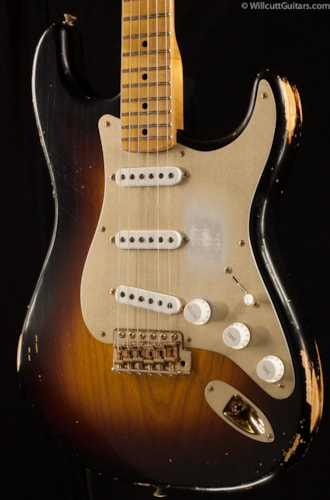 Fender® Custom Shop 1954 Heavy Relic® Stratocaster® Golden 50's Limited Two-Tone Sunburst (301) Custom Shop 1954 Heavy Relic® Stratocaster®