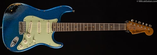 Fender® Custom Shop 1962 Stratocaster® Heavy Relic® Blue Sparkle over Black (294) Custom Shop 1962 Stratocaster®