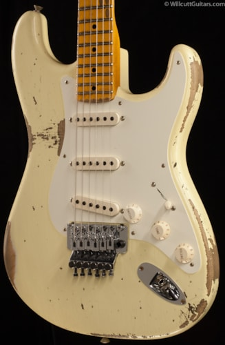 Fender® Custom Shop '56 Stratocaster® Heavy Relic® Floyd Rose Vintage White (779) Custom Shop '56 Stratocaster®