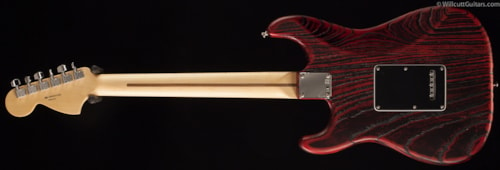Fender® Limited Edition Sandblasted Ash Stratocaster® Crimson Red Transparent (498) Limited Edition Sandblasted Ash Stratocaster®