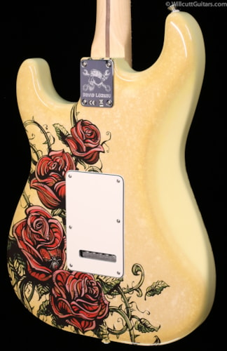 Fender® Special Edition Standard Stratocaster® David Lozeau Artwork Rose Tattoo (675) Special Edition Standard Stratocaster® David Lozeau
