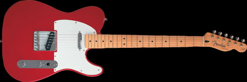 Fender® James Burton Standard Tele® Candy Apple Red, Maple James Burton Standard Tele®