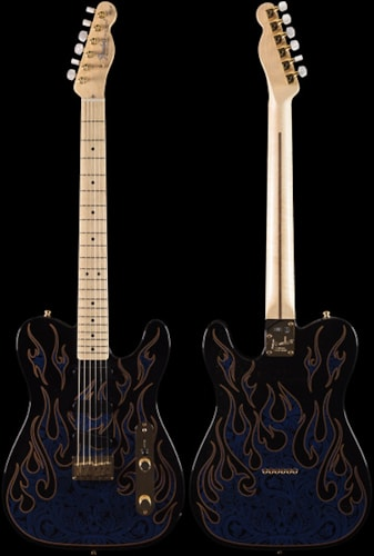 Fender® James Burton Telecaster® Blue Paisley Flames (253) James Burton Telecaster®