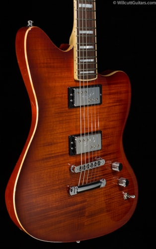 Fender® Select Carved Maple Top Jazzmaster™ HH, Cayenne Burst (213) Select Carved Maple Top Jazzmaster™