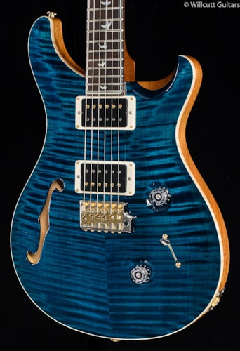 PRS Wood Library Custom 24 30th Anniversary Semi-Hollow Azul 10 Top (638) Wood Library Custom 24 30th Anniversary Semi-Hollow