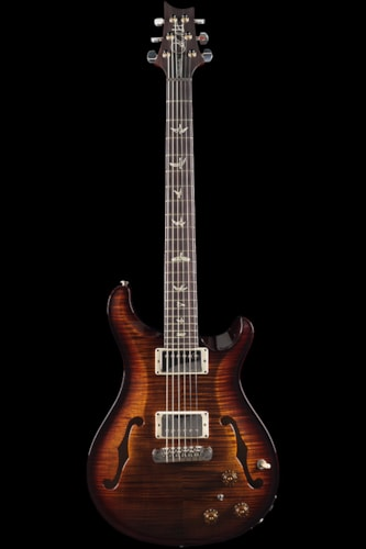 PRS Hollowbody II Black Gold Burst 10 Top (528) Hollowbody II