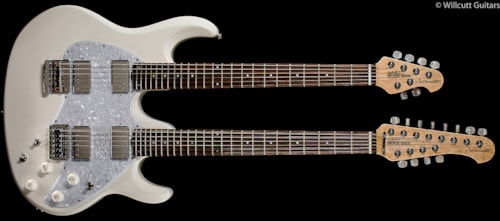 Music Man Silhouette Double-Neck White (305) Silhouette Double-Neck