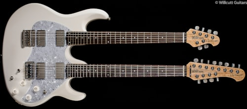 Music Man Silhouette Double-Neck White (362) Silhouette Double-Neck