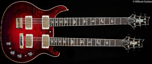 PRS Private Stock 5671 Doubleneck Baritone/6 String Black Cherry Burst Private Stock 5671 Doubleneck Baritone/6