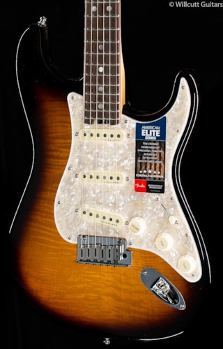 Fender® Limited Edition American Elite Stratocaster® 2-Tone Sunburst (636) Limited Edition American Elite Stratocaster®