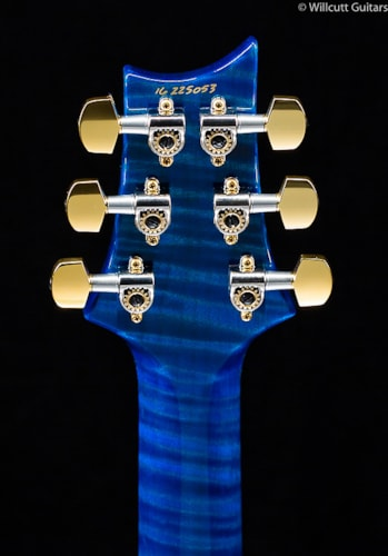 PRS Custom 24 Artist Top Aquamarine Stained Flame Maple Neck (053) Custom 24