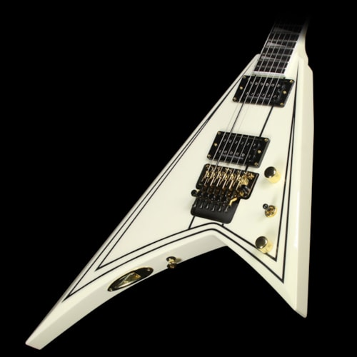 Jackson Pro Rhoads RR3 Electric Guitar Ivory with Black Pinstripes