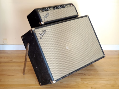 1967 Fender® Showman® Piggyback Tube Amp 1x15 Tone Ring Cab JBL