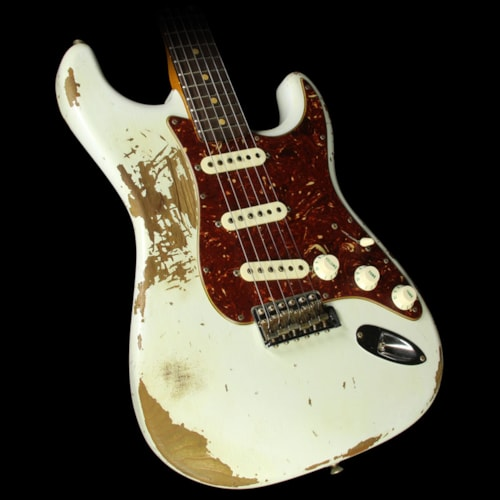 Fender® Custom Shop 1961 Roasted Alder Stratocaster® Heavy Relic® Electric Guitar Olympic White