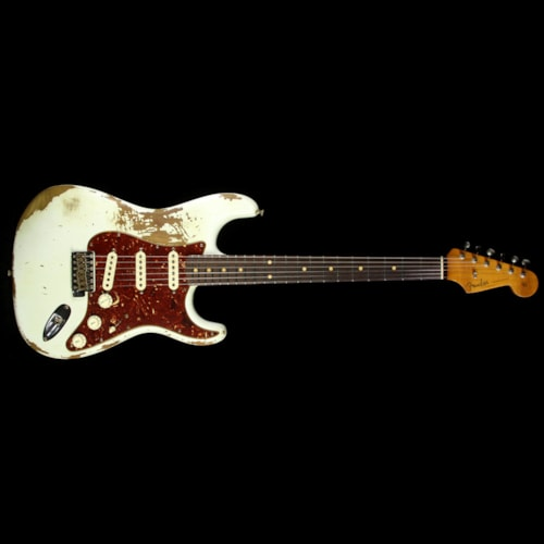 1961 Fender® Custom Shop 1961 Roasted Alder Stratocaster® Heavy Relic® Electric Guitar Olympic White