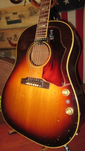 1968 Gibson J-160 E Flattop Acoustic Electric