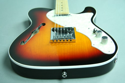2013 Fender® Telecaster® American Deluxe Thinline Sunburst Electric Guitar