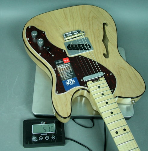2016 Fender American Telecaster Elite Electric Guitar Natural