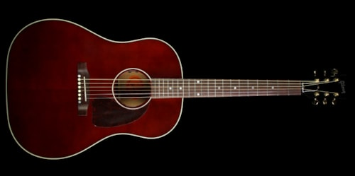 Gibson Used Gibson Montana J-45 Standard Limited Edition Acoustic/Electric Guitar Wine Red