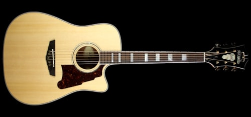 D'Angelico Used D'Angelico SD-400 Brooklyn Dreadnought Acoustic/Electric Guitar Natural
