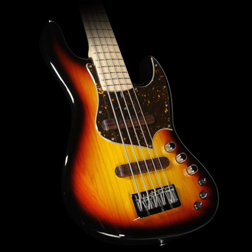 Xotic Used 2016 Xotic XJ-1T 5-String Electric Bass Guitar 3-Tone Sunburst