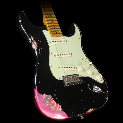 Fender Custom Shop '69 Stratocaster Relic Electric Guitar Black over Pink Paisley